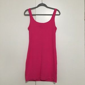 H&M pink tank dress